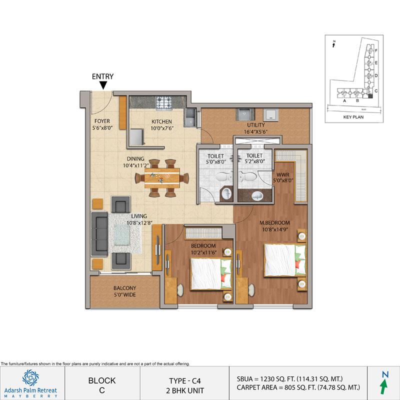 2 & 3 BHK Apartments in Sarjapur Road - Adarsh Palm Retreat