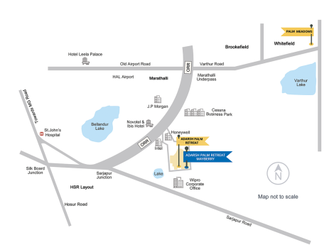 adarsh palm retreat apartments location map
